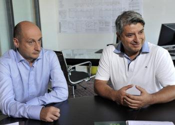 Giuseppe Scatolini e Moreno Marziani nel loro studio