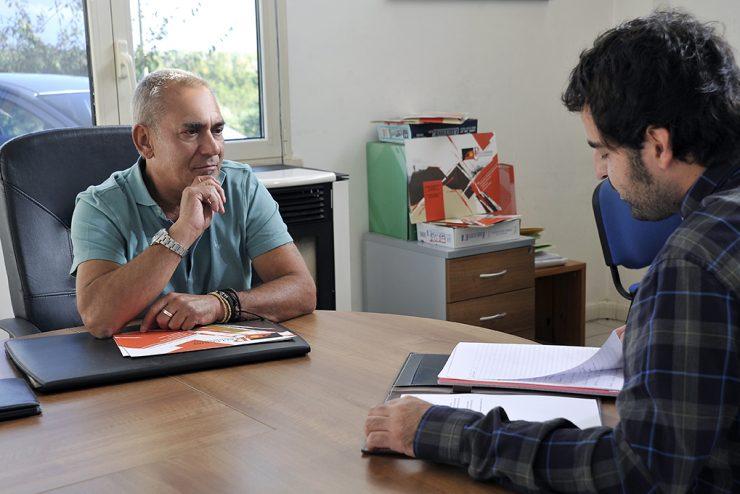 Fabrizio Pellegrini nel suo ufficio
