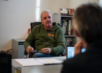 Giordano Bonfanti nel suo ufficio