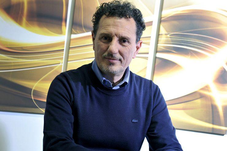Giuseppe Finocchi nel suo ufficio