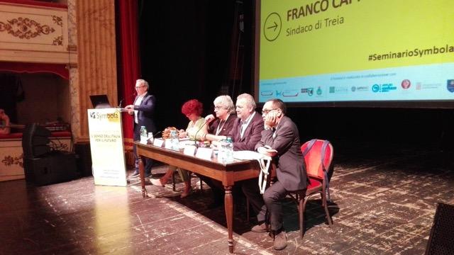"""Seminario Symbola a Treia, Franco Capponi: """"Ricostruzione post sisma a metà tra dov'era e dove sarà""""."""