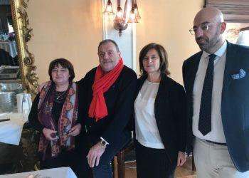 Da sinistra Fernanda Cecchini,  Gianfranco Vissani, Donatella Porzi, Roberto Damaschi