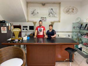 Laura Mossa e Domenico Bellu